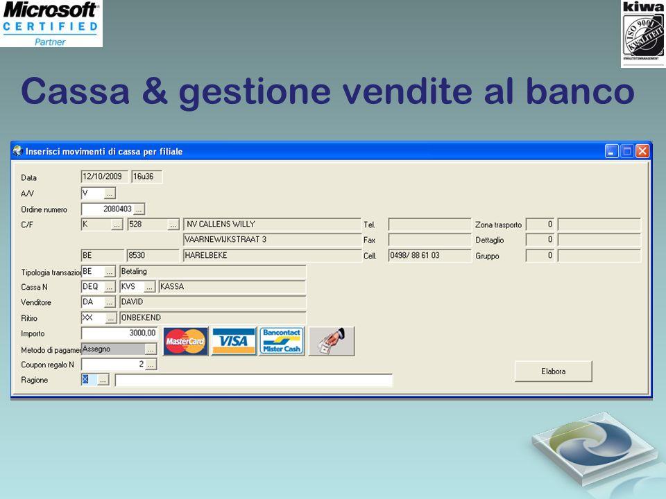 Cassa & gestione vendite al banco