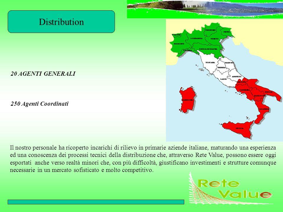 Distribution Il nostro personale ha ricoperto incarichi di rilievo in primarie aziende italiane, maturando una esperienza ed una conoscenza dei proces