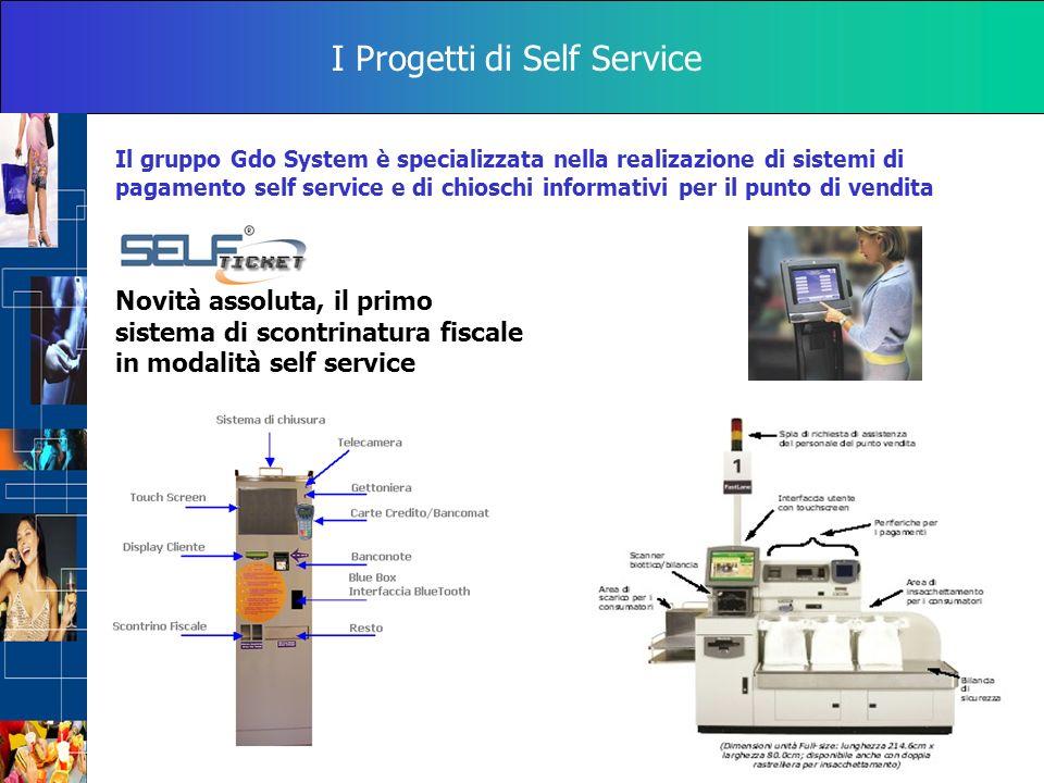I Progetti di Self Service Il gruppo Gdo System è specializzata nella realizazione di sistemi di pagamento self service e di chioschi informativi per