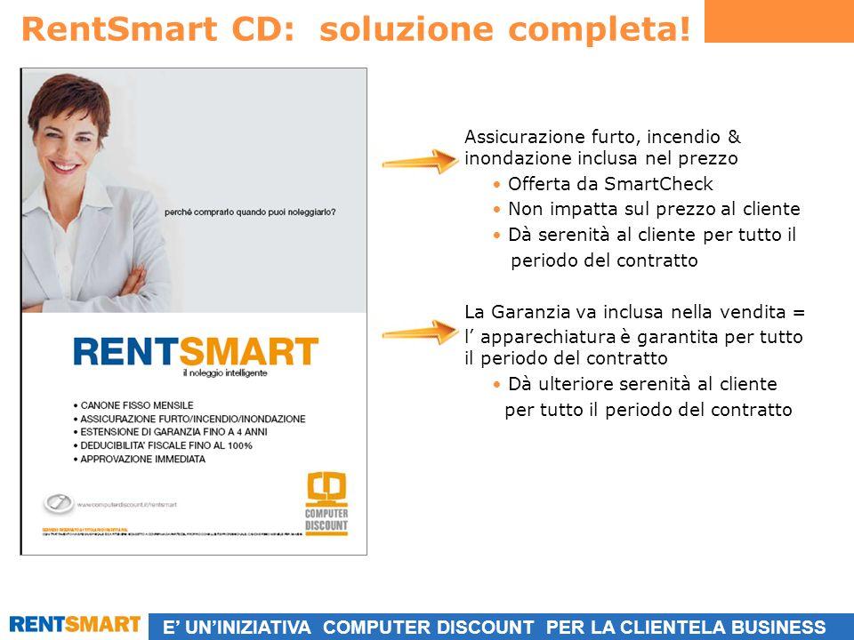 E UNINIZIATIVA COMPUTER DISCOUNT PER LA CLIENTELA BUSINESS RentSmart CD: soluzione completa.