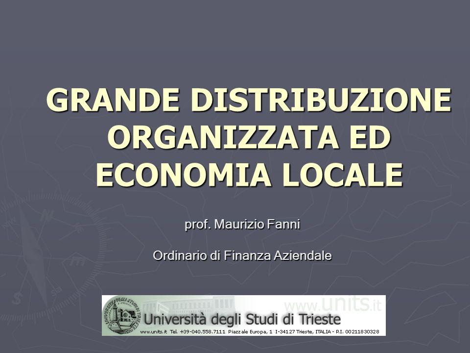 GRANDE DISTRIBUZIONE ORGANIZZATA ED ECONOMIA LOCALE prof. Maurizio Fanni Ordinario di Finanza Aziendale