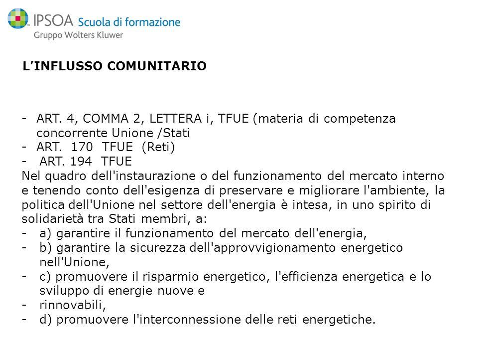 LINFLUSSO COMUNITARIO -ART.