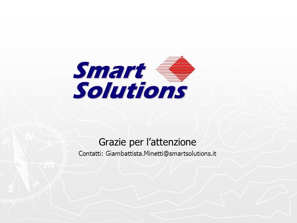 Grazie per lattenzione Contatti: Giambattista.Minetti@smartsolutions.it Smart Solutions