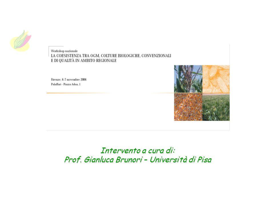 Intervento a cura di: Prof. Gianluca Brunori – Università di Pisa