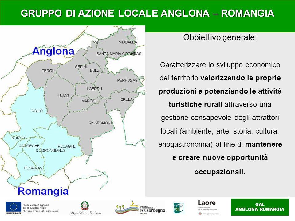 GAL ANGLONA ROMANGIA Obbiettivo generale: Caratterizzare lo sviluppo economico del territorio valorizzando le proprie produzioni e potenziando le atti