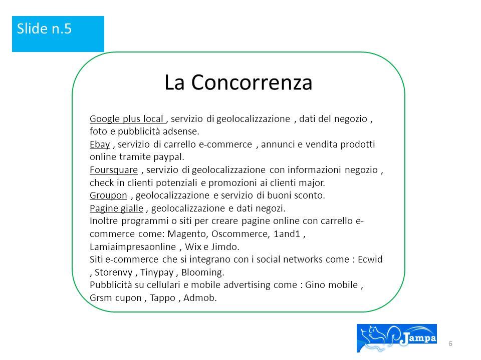 La Concorrenza Google plus local, servizio di geolocalizzazione, dati del negozio, foto e pubblicità adsense.
