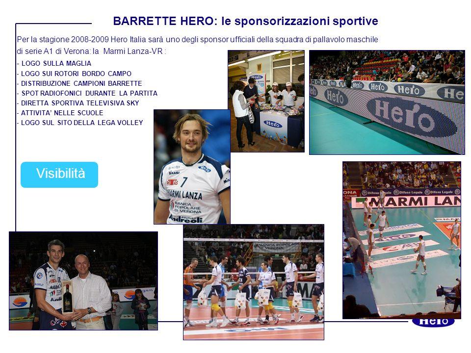 Per la stagione 2008-2009 Hero Italia sarà uno degli sponsor ufficiali della squadra di pallavolo maschile di serie A1 di Verona: la Marmi Lanza-VR :