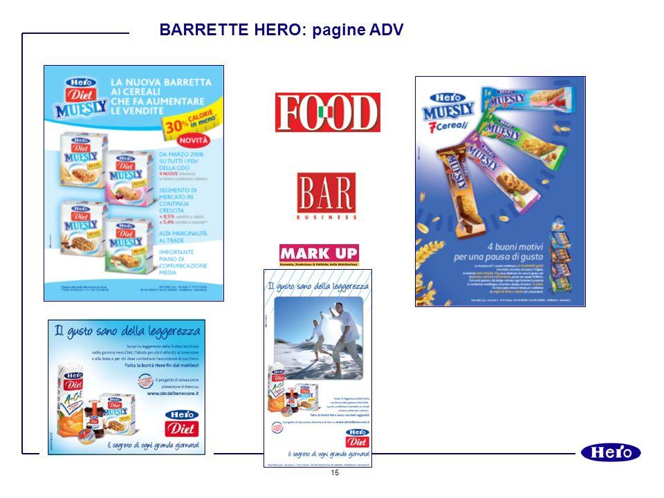 15 BARRETTE HERO: pagine ADV