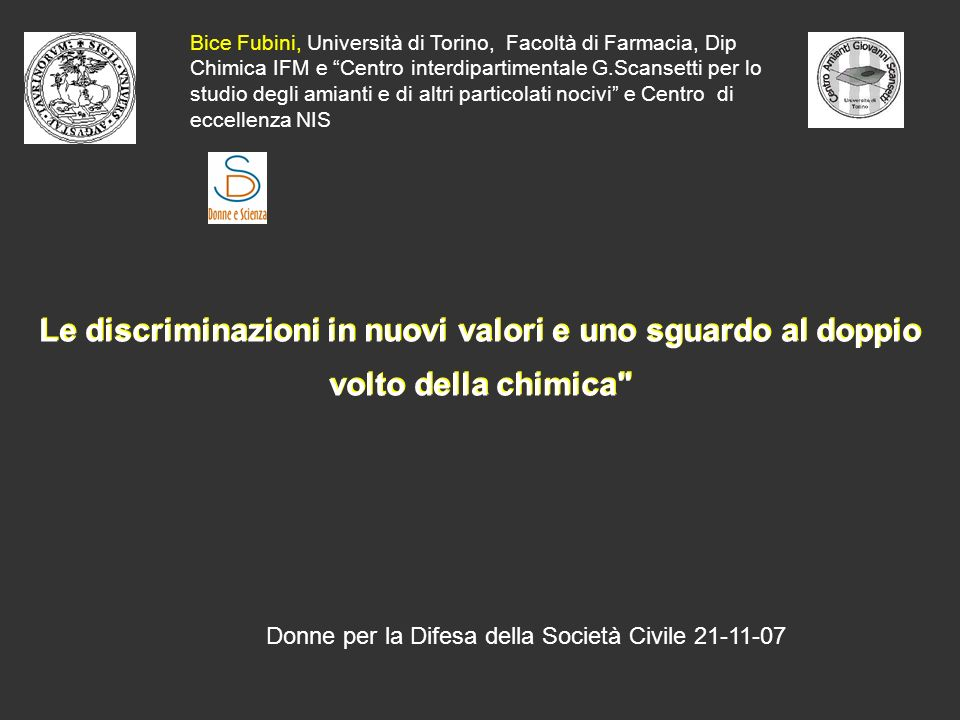 LEuropa ha recepito la grande importanza dell apporto delle donne alla scienza Integrating the gender dimension in FP6 projects The European policy of equal opportunities between women and men is…..