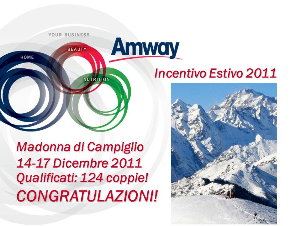 Aggiornamento Attività Luzio Cinalli Incentivo Estivo 2011 Madonna di Campiglio 14-17 Dicembre 2011 Qualificati: 124 coppie! CONGRATULAZIONI!