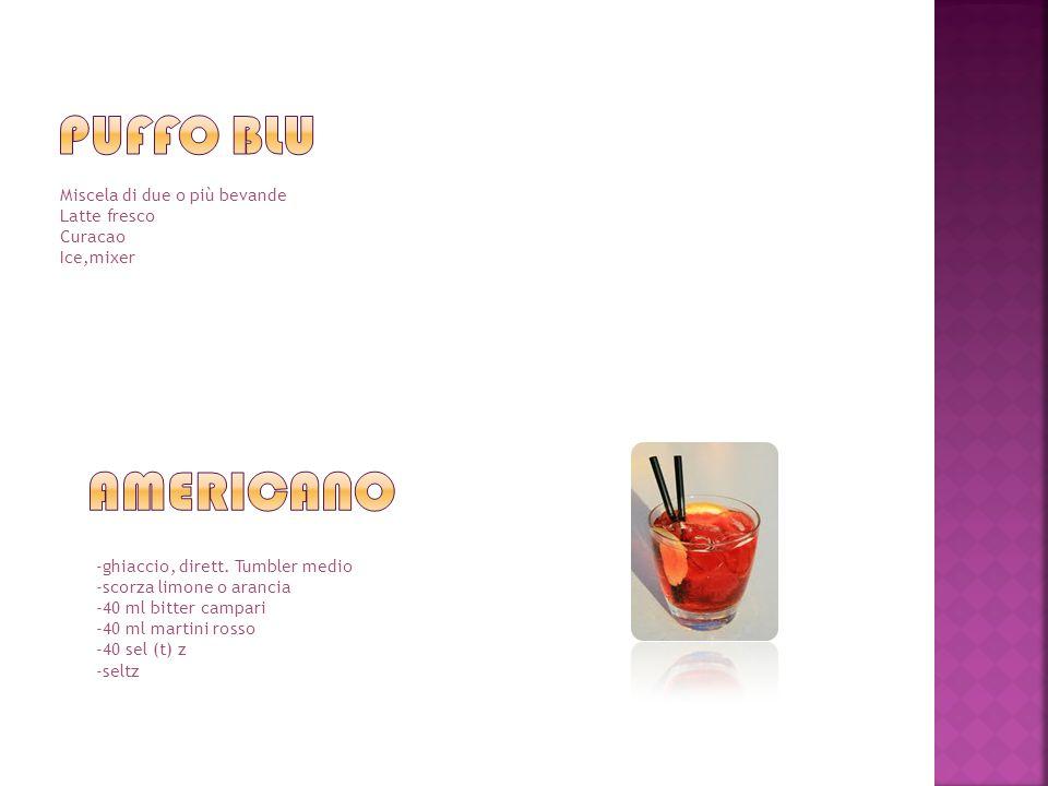 Miscela di due o più bevande Latte fresco Curacao Ice,mixer -ghiaccio, dirett.