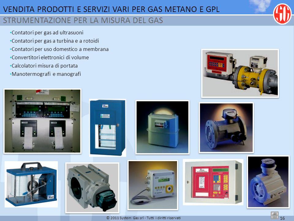 Contatori per gas ad ultrasuoni Contatori per gas a turbina e a rotoidi Contatori per uso domestico a membrana Convertitori elettronici di volume Calc