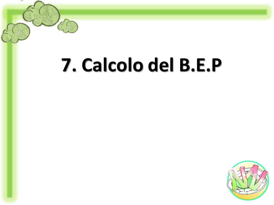 7. Calcolo del B.E.P