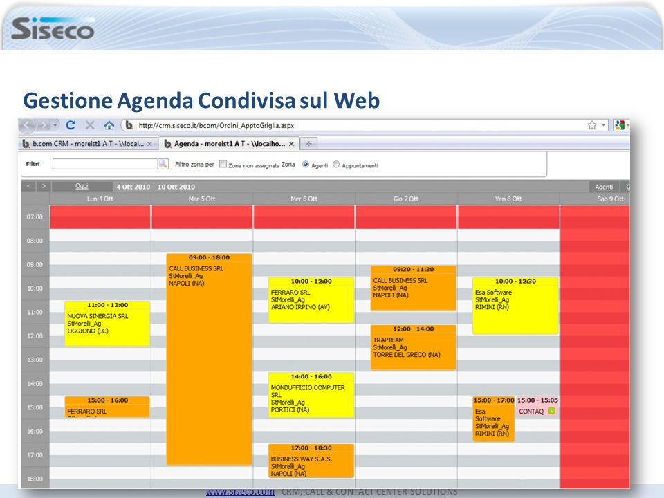 www.siseco.comwww.siseco.com - CRM, CALL & CONTACT CENTER SOLUTIONS (disponibile il modulo iPad)