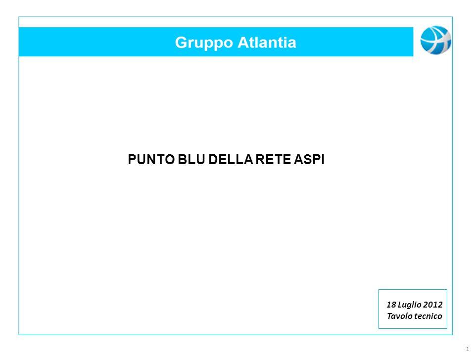 11 PUNTO BLU DELLA RETE ASPI 18 Luglio 2012 Tavolo tecnico