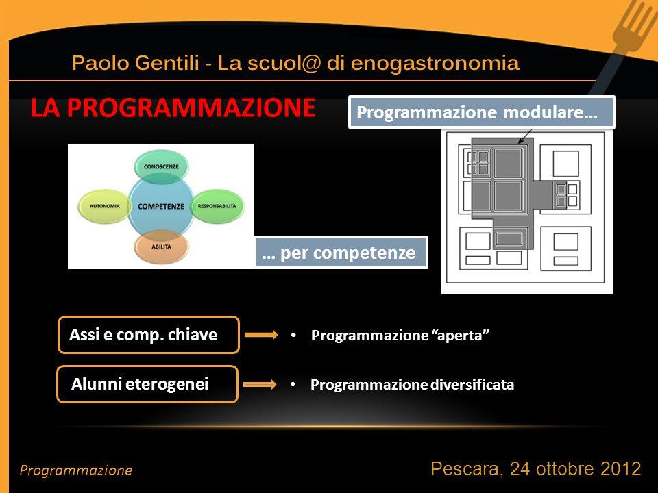 LA PROGRAMMAZIONE … per competenze Programmazione modulare… Alunni eterogenei Assi e comp.