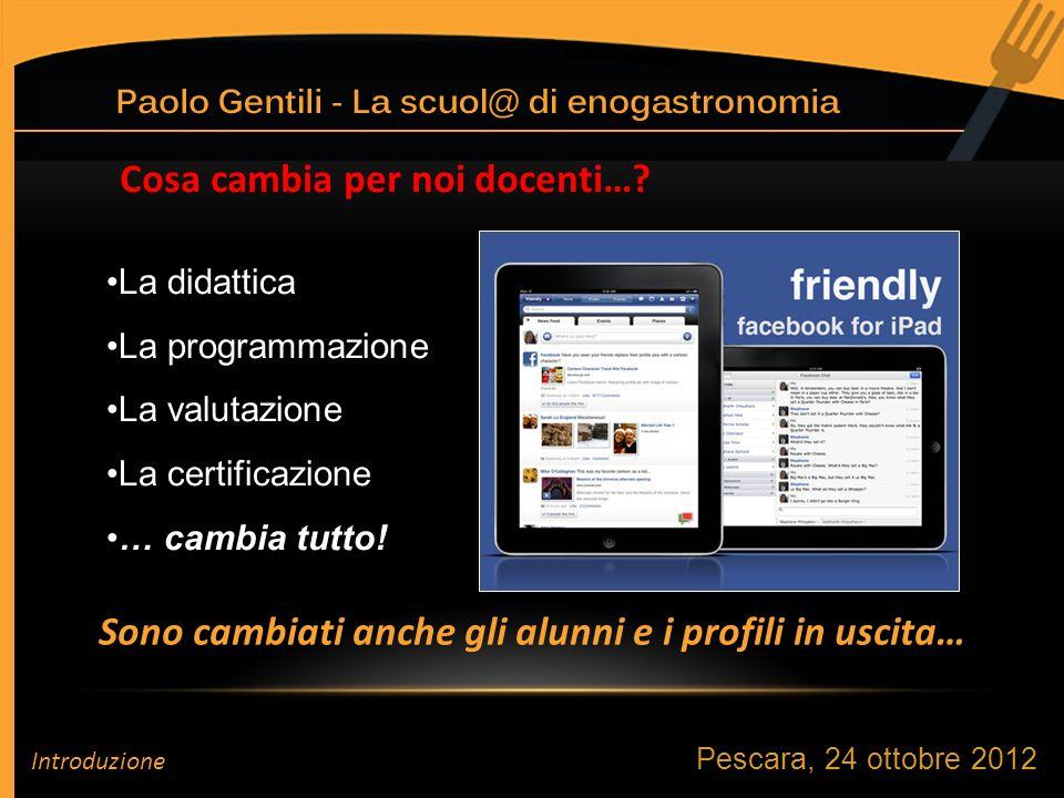 Pescara, 24 ottobre 2012 Occorre dare unidentità al nostro Istituto! Introduzione
