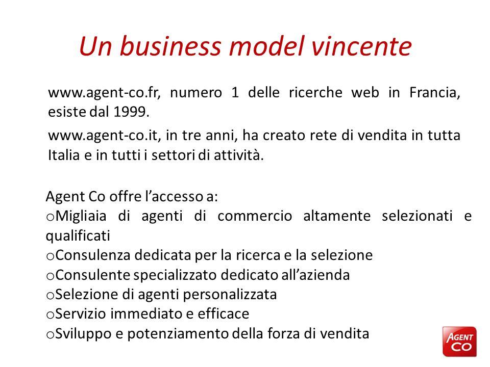 Un business model vincente www.agent-co.fr, numero 1 delle ricerche web in Francia, esiste dal 1999. www.agent-co.it, in tre anni, ha creato rete di v
