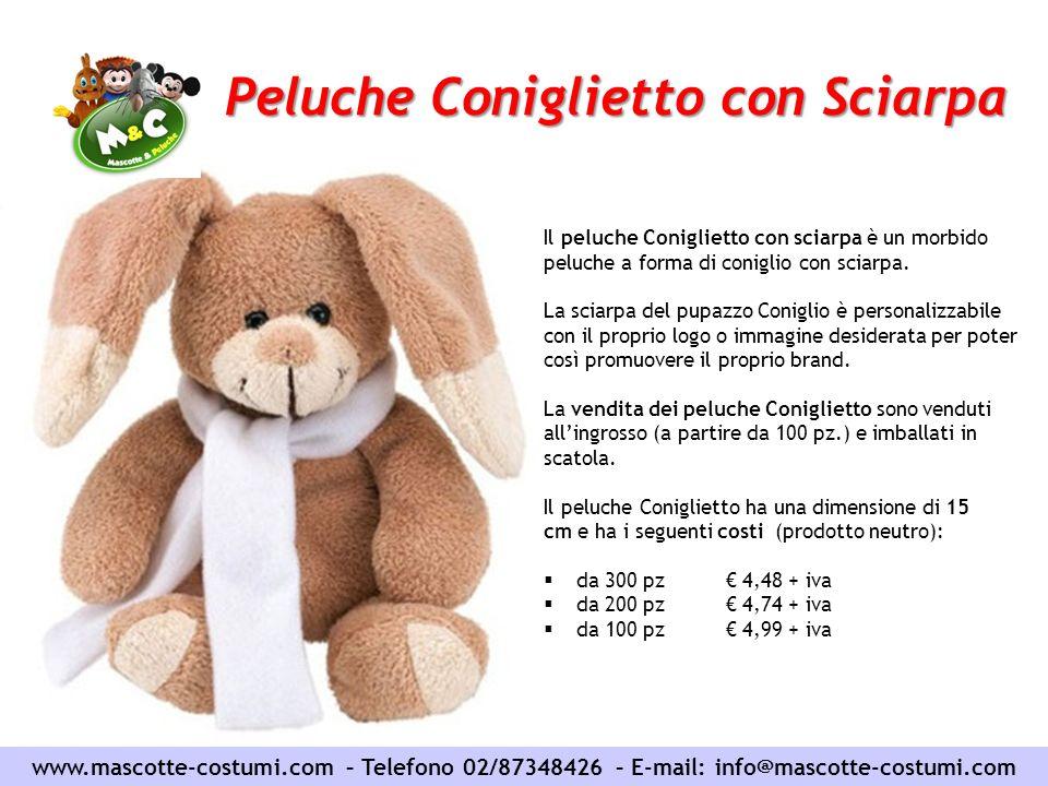 Peluche Coniglietto con Sciarpa www.mascotte-costumi.com – Telefono 02/87348426 – E-mail: info@mascotte-costumi.com Il peluche Coniglietto con sciarpa