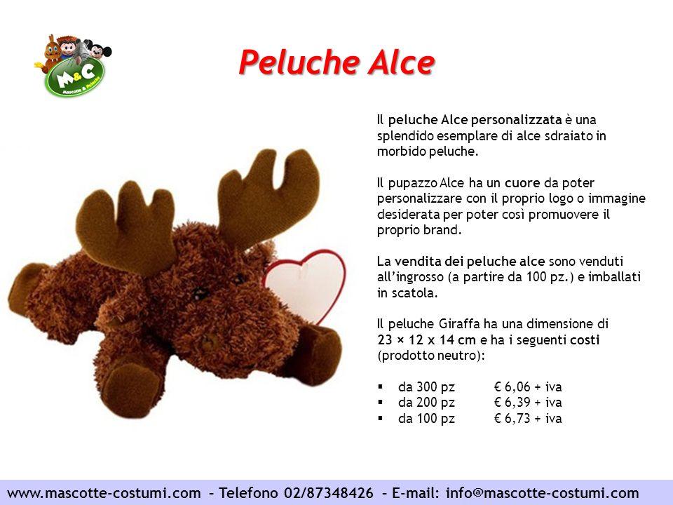 Peluche Alce www.mascotte-costumi.com – Telefono 02/87348426 – E-mail: info@mascotte-costumi.com Il peluche Alce personalizzata è una splendido esempl
