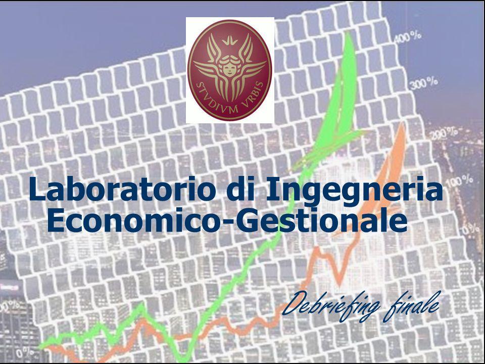 Laboratorio di Ingegneria Economico-Gestionale DEBRIEFING FINALE Laboratorio di Ingegneria Economico-Gestionale Debriefing finale