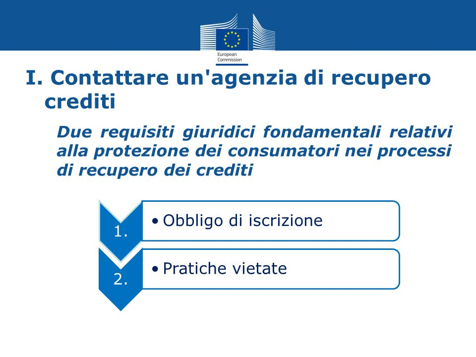 I. Contattare un'agenzia di recupero crediti Due requisiti giuridici fondamentali relativi alla protezione dei consumatori nei processi di recupero de