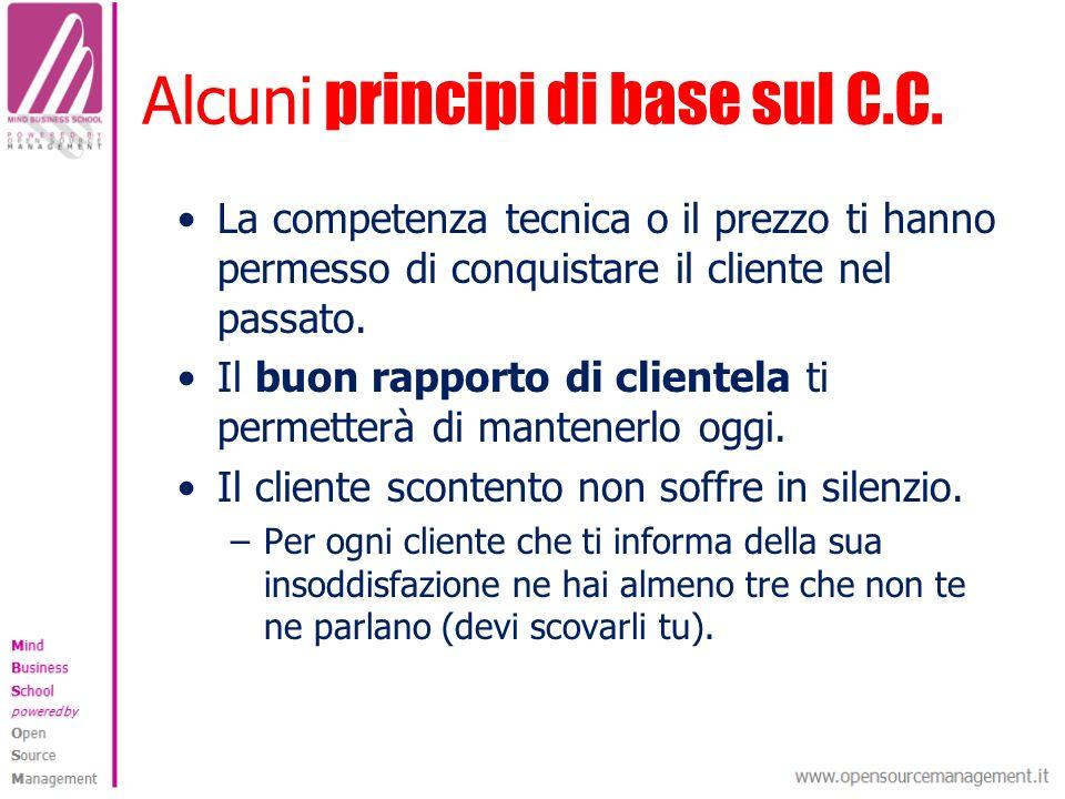 Alcuni principi di base sul C.C.