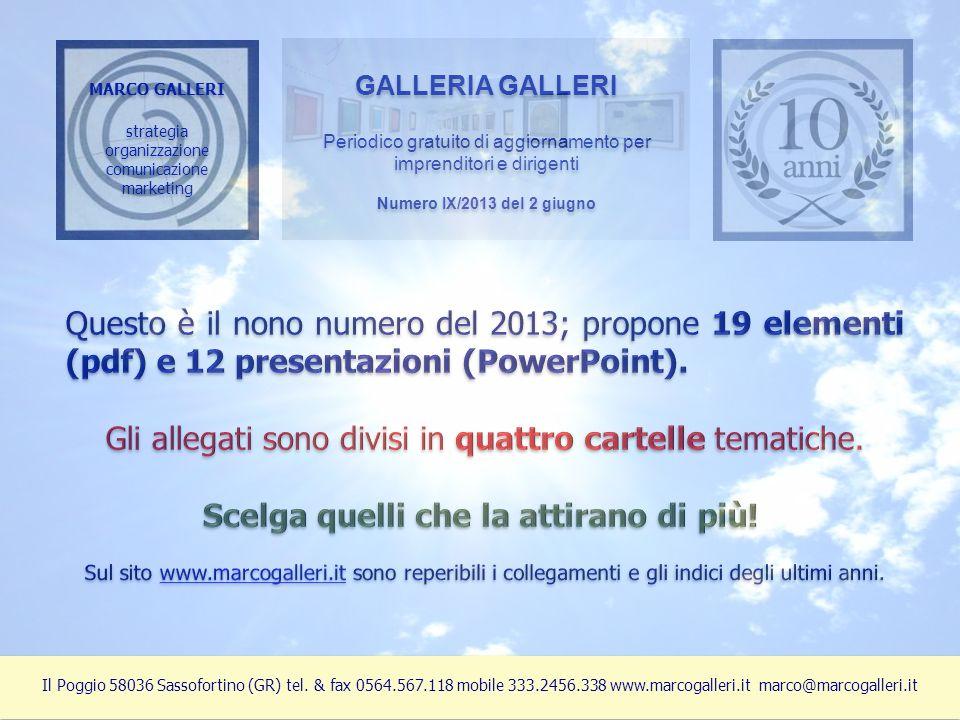 MARCO GALLERI strategia organizzazione comunicazione marketing MARCO GALLERI strategia organizzazione comunicazione marketing GALLERIA GALLERI Periodi