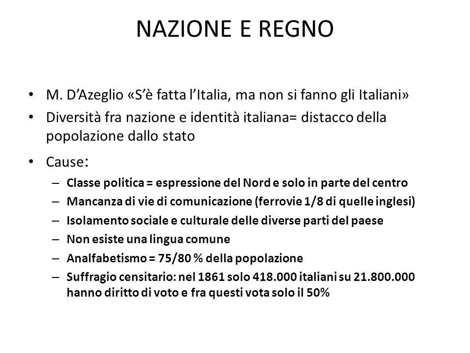 NAZIONE E REGNO M.