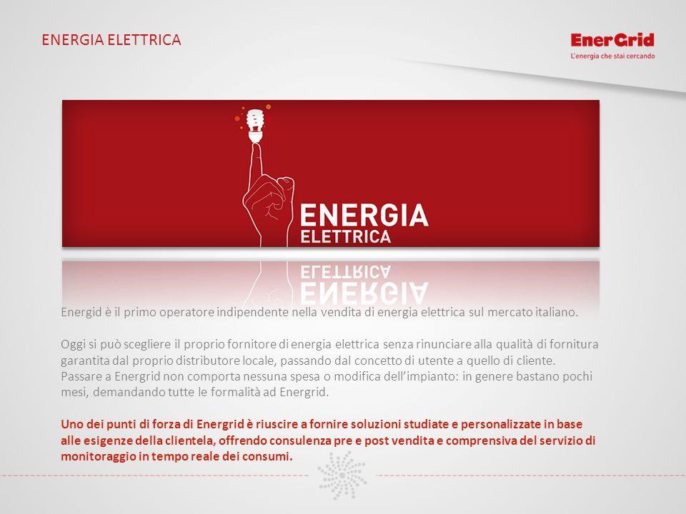 ENERGIA ELETTRICA Energid è il primo operatore indipendente nella vendita di energia elettrica sul mercato italiano. Oggi si può scegliere il proprio