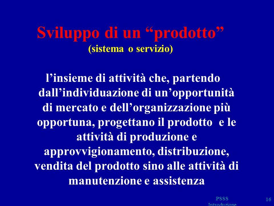 PSSS Introduzione 17 IL CICLO DI SVILUPPO Alla anglosassone: T.
