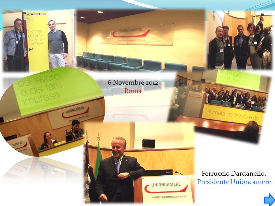 Ferruccio Dardanello, Presidente Unioncamere 6 Novembre 2012 Roma