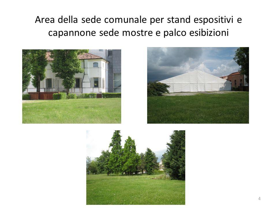 Area della sede comunale per stand espositivi e capannone sede mostre e palco esibizioni 4