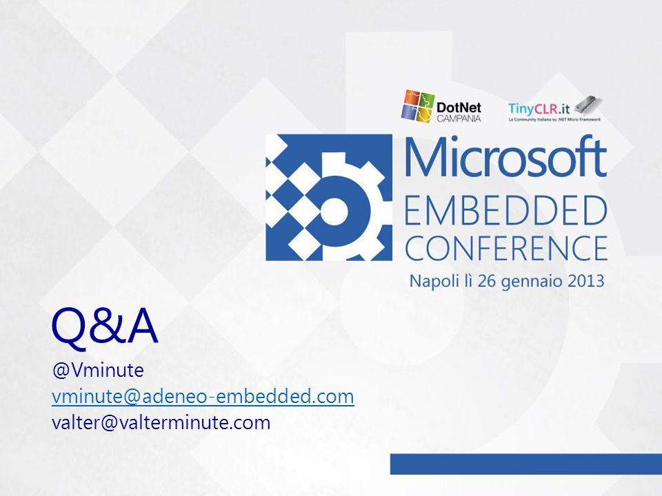 Q&A @Vminute vminute@adeneo-embedded.com valter@valterminute.com