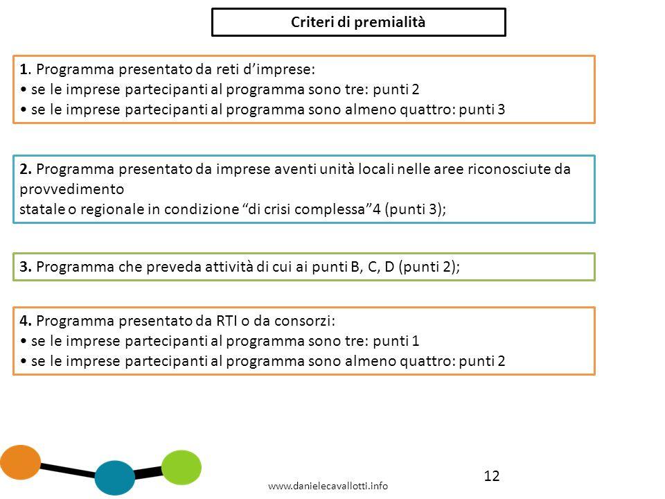 12 Criteri di premialità 1.
