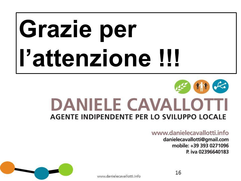 16 www.danielecavallotti.info Grazie per lattenzione !!!
