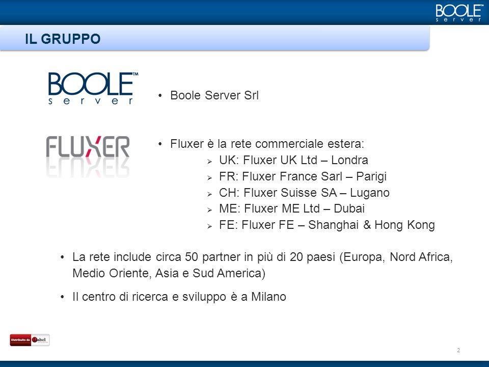 Boole Server Srl Fluxer è la rete commerciale estera: UK: Fluxer UK Ltd – Londra FR: Fluxer France Sarl – Parigi CH: Fluxer Suisse SA – Lugano ME: Flu
