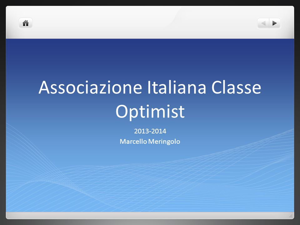 Associazione Italiana Classe Optimist 2013-2014 Marcello Meringolo