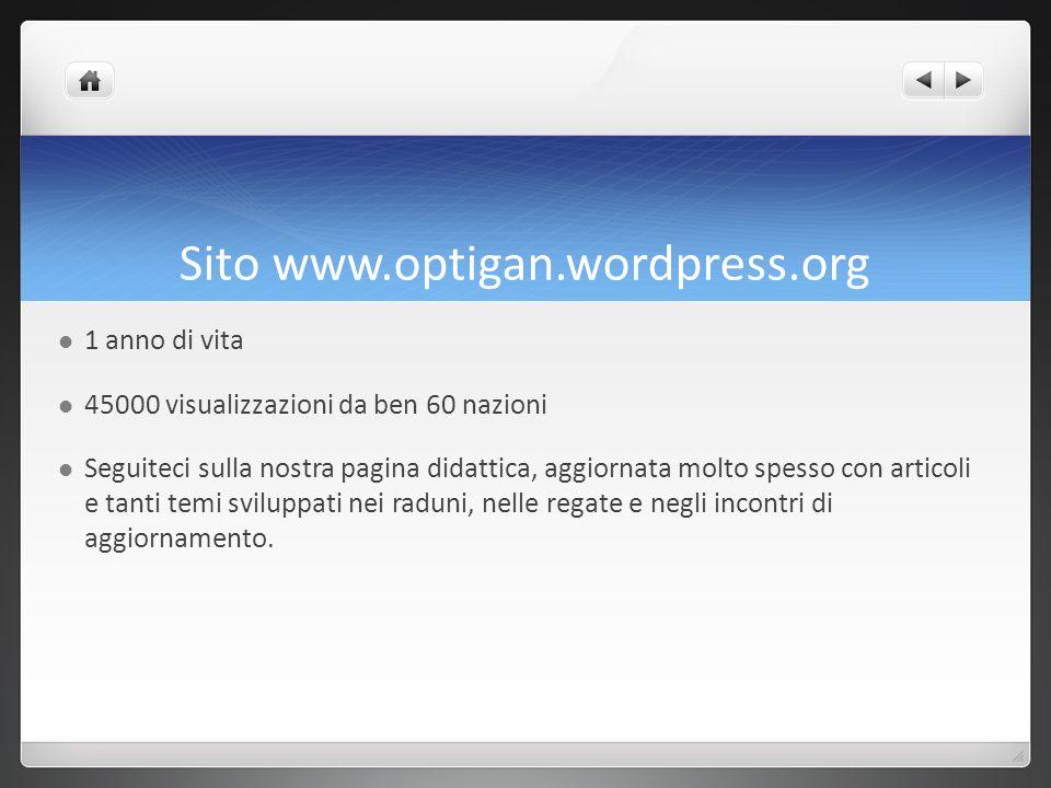 Sito www.optigan.wordpress.org 1 anno di vita 45000 visualizzazioni da ben 60 nazioni Seguiteci sulla nostra pagina didattica, aggiornata molto spesso