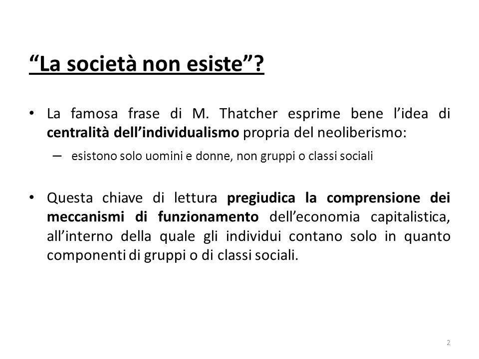 La società non esiste. La famosa frase di M.