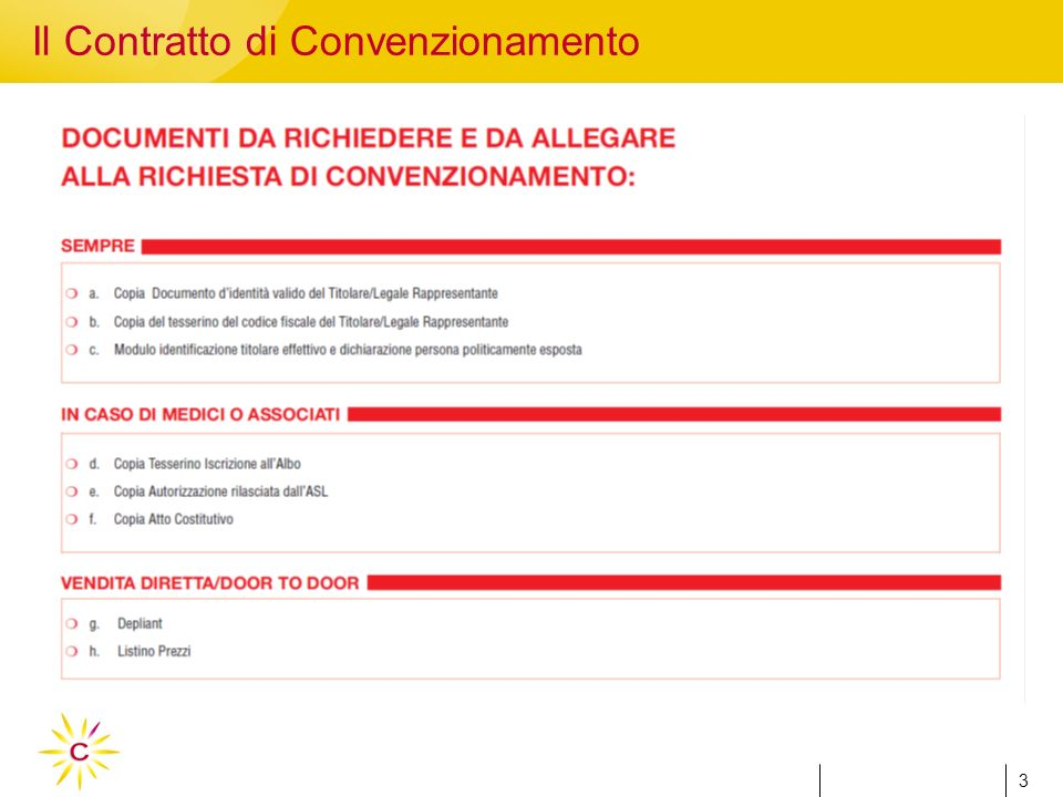 3 3 Il Contratto di Convenzionamento