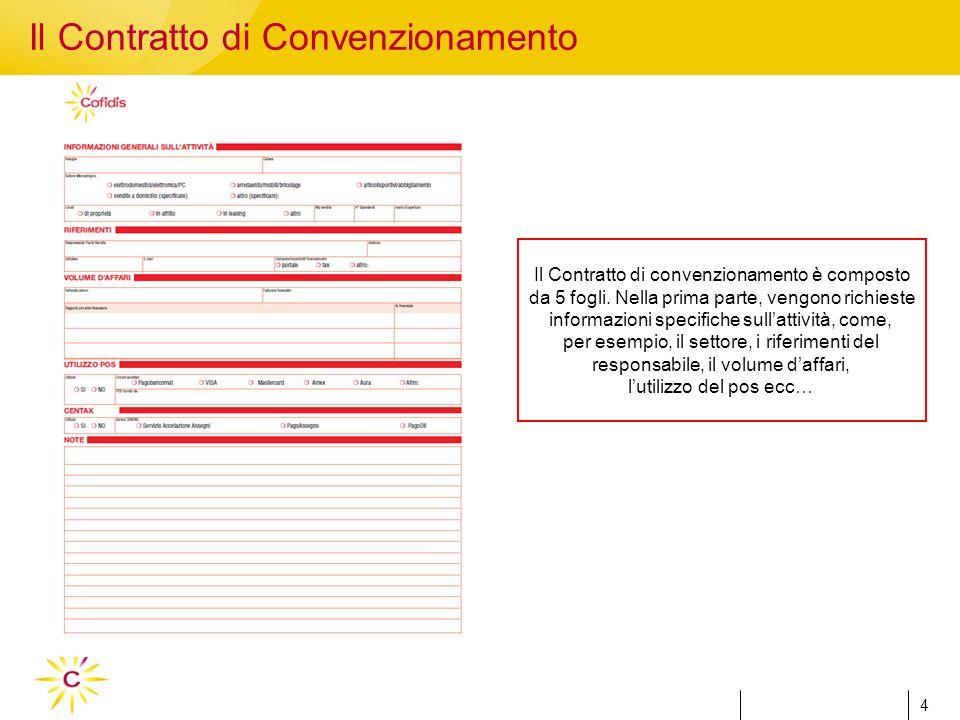 4 4 Il Contratto di convenzionamento è composto da 5 fogli.