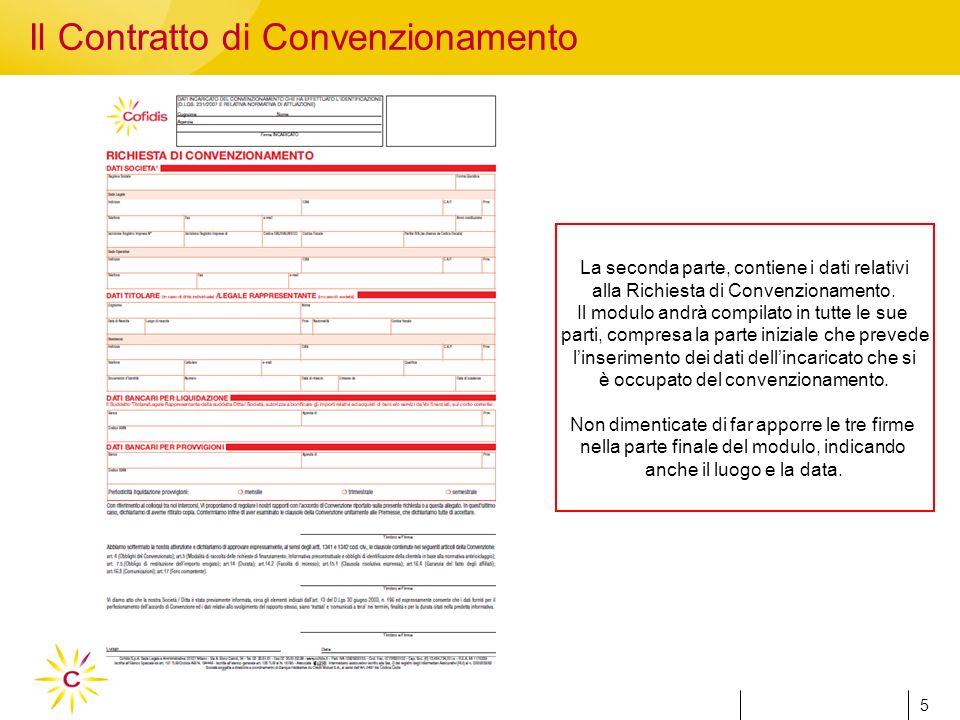 5 5 La seconda parte, contiene i dati relativi alla Richiesta di Convenzionamento.