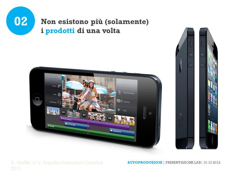 S. Maffei in V. Arquilla Intenzioni Creative 2011 Non esistono più (solamente) i prodotti di una volta 02 AUTOPRODUZIONI | PRESENTAZIONE LAB| 10.10.20