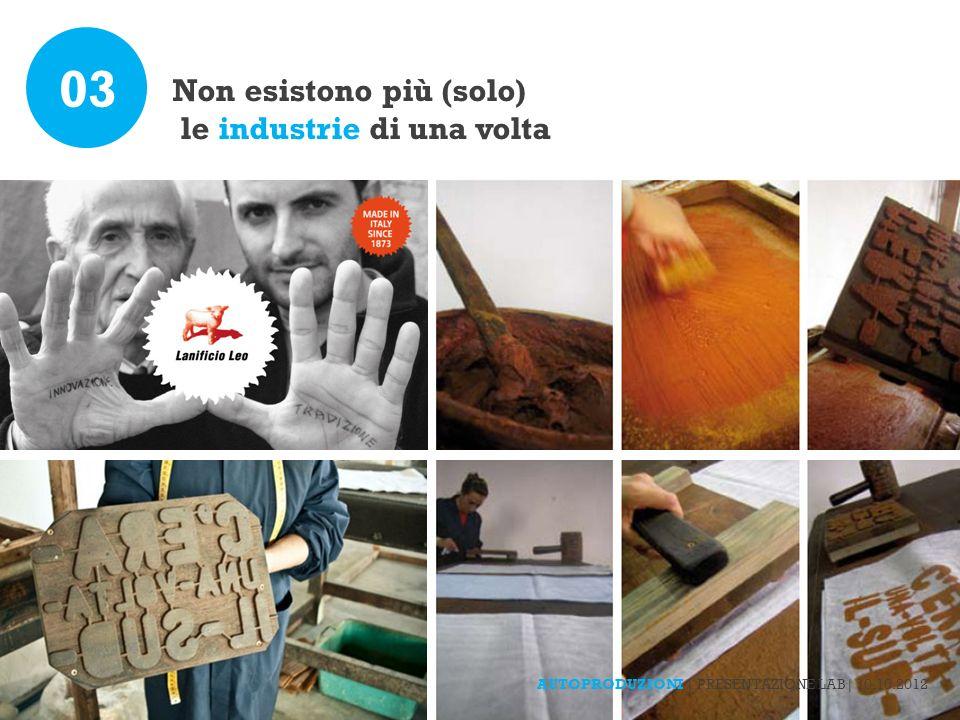 Non esistono più (solo) le industrie di una volta 03 AUTOPRODUZIONI | PRESENTAZIONE LAB| 10.10.2012