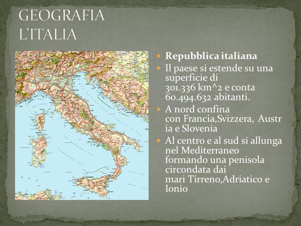 Le coste italiane si sviluppano su 7.456 km e presentano svariate forme (falesie, sabbiose, pietrose, ecc.).Il suolo italiano, fortemente antropizzato, ha varie caratteristiche (vulcanico, lagunare, calcareo, ecc.).