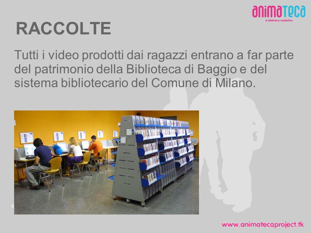 RACCOLTE Tutti i video prodotti dai ragazzi entrano a far parte del patrimonio della Biblioteca di Baggio e del sistema bibliotecario del Comune di Milano.