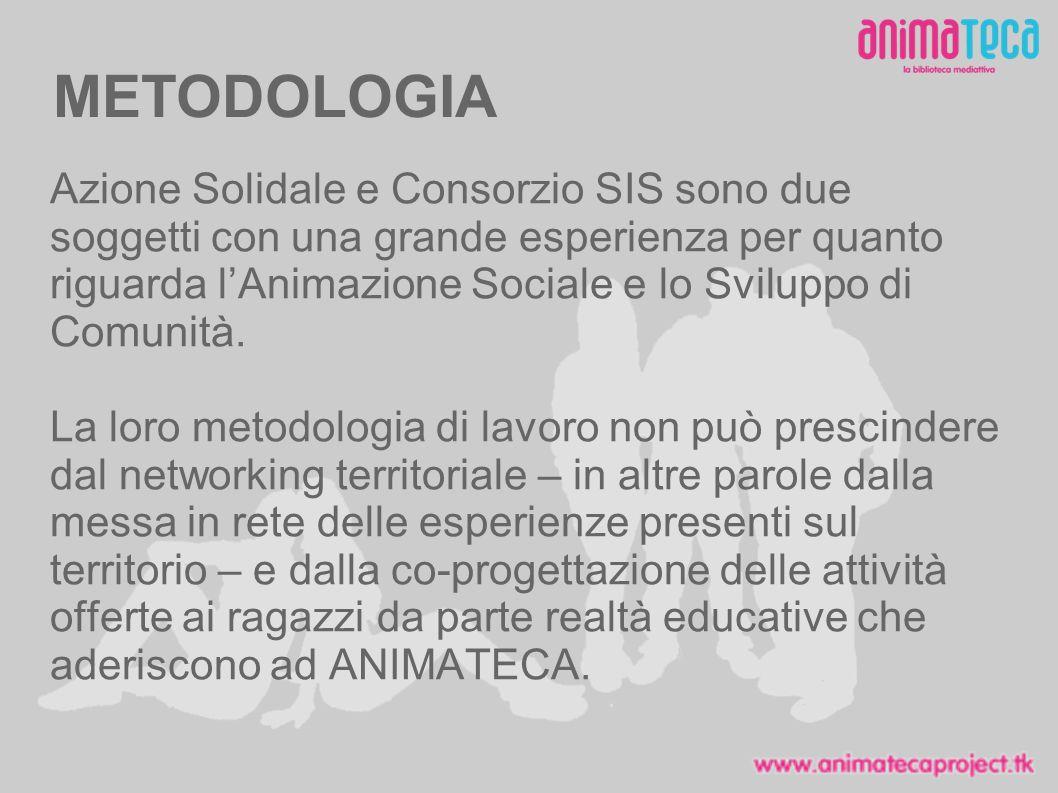 METODOLOGIA Azione Solidale e Consorzio SIS sono due soggetti con una grande esperienza per quanto riguarda lAnimazione Sociale e lo Sviluppo di Comunità.