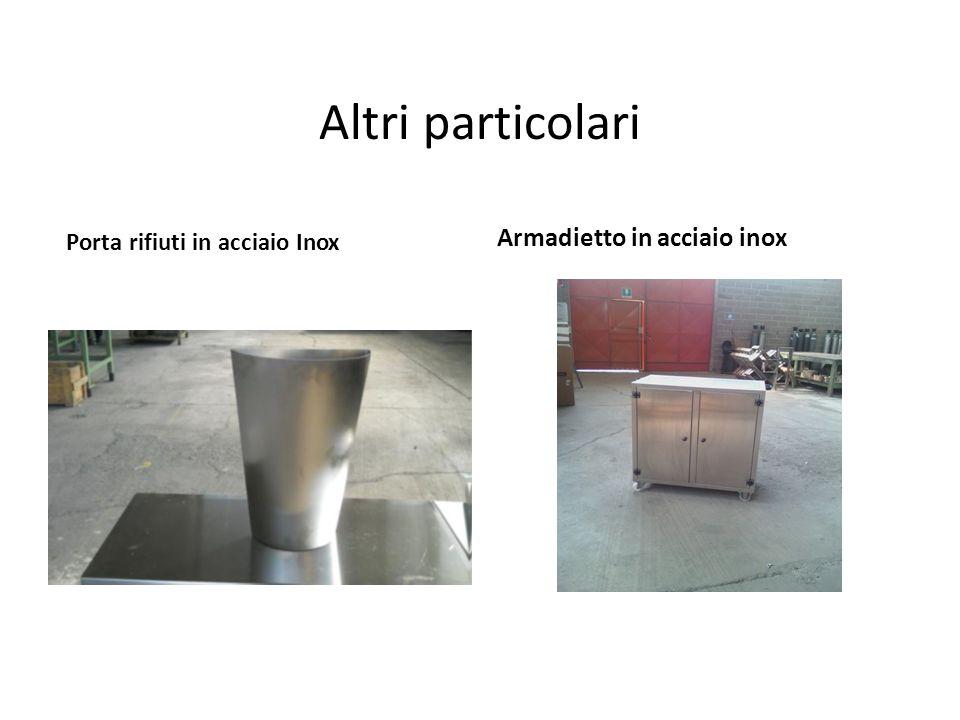 Altri particolari Porta rifiuti in acciaio Inox Armadietto in acciaio inox