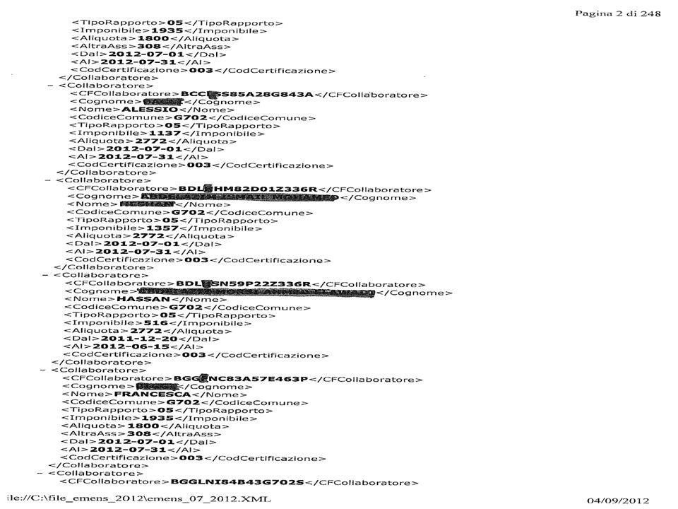 09 Rapporti occasionali autonomi (l.326/2003) 10 Collaborazioni coordinate e continuative dei titolari di pensione di vecchiaia o ultrasessantacinquenni obbligatorio codice attività 11 Collaborazioni Coordinate e continuative preso la P.A.
